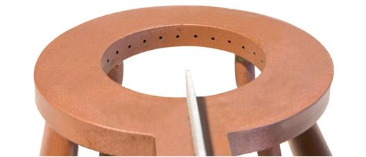 Inductor fabricado de forma tradicional con cobre